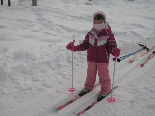 Learning to cross-country ski at Chateau Montebello