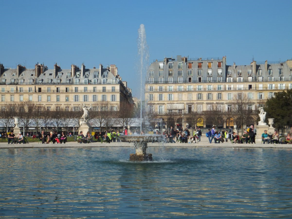Fountain in Tuileries Gardens, Paris