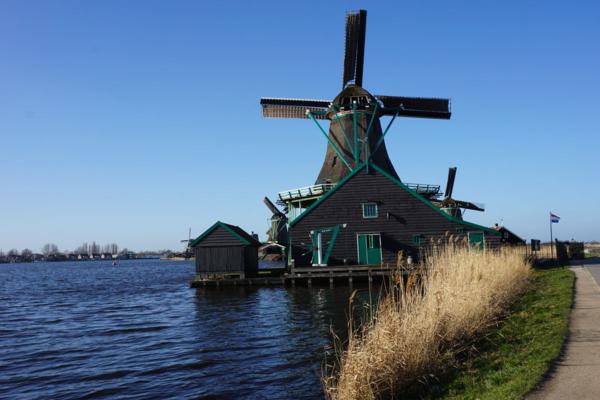 Netherlands-zaanse schans-windmill