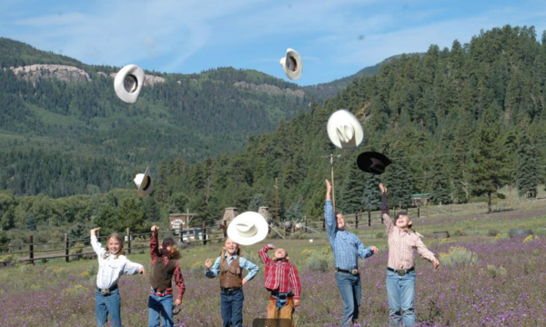 Spur alliance-rainbow trout ranch-kids playing