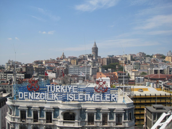Istanbul-Galata Tower-from cruise ship balcony