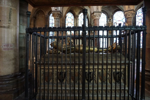 England-canterbury cathedral-tomb of the black prince