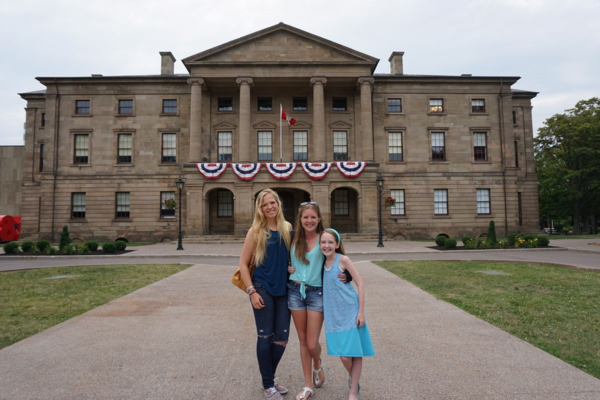 Prince edward island-charlottetown-girls at province house