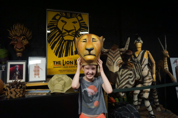 Walks of new york-disney on broadway-new amsterdam theatre-lion king headdres