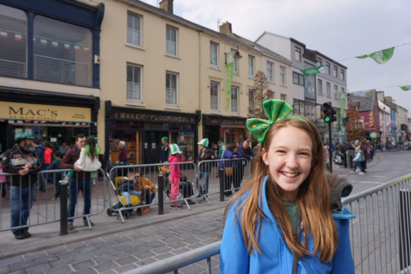 Ireland-killarney-st. patrick's day-waiting for parade