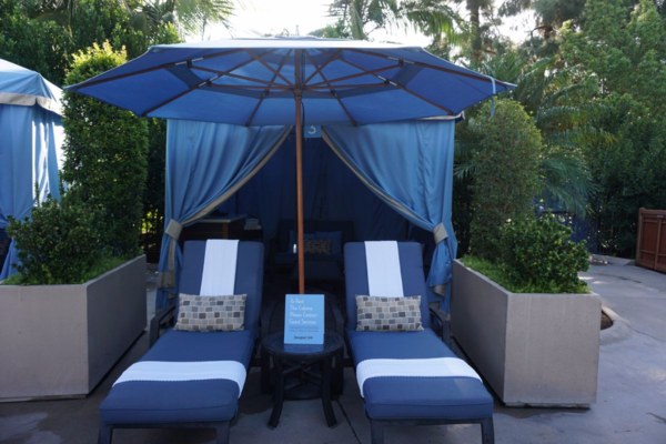 California-disneyland hotel-private cabana