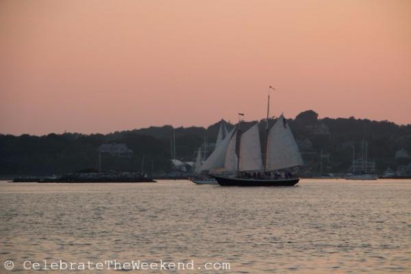 Newport-rhode island-ship sailing in harbor
