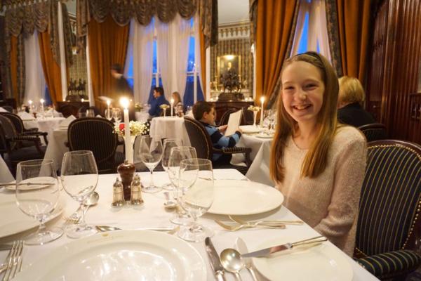 Ireland-dromoland castle-girl dining at earl of thomond restaurant