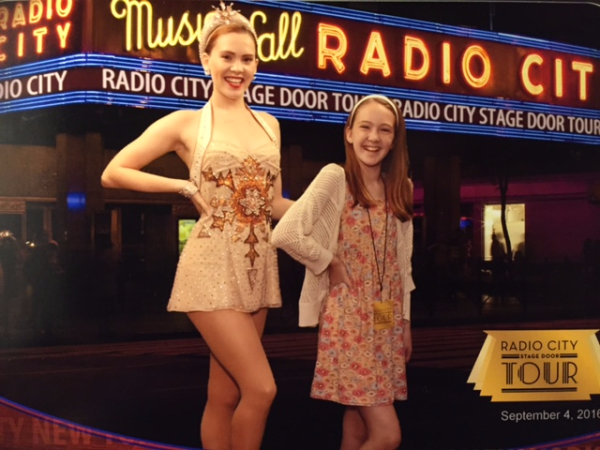 New york city-radio city music hall-girl with a rockette