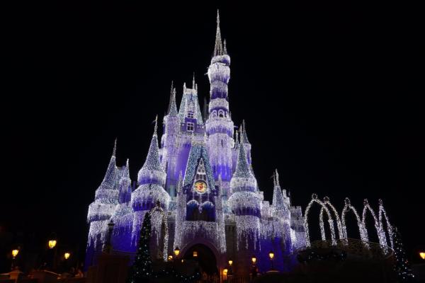 Disney world-cinderella's castle-night