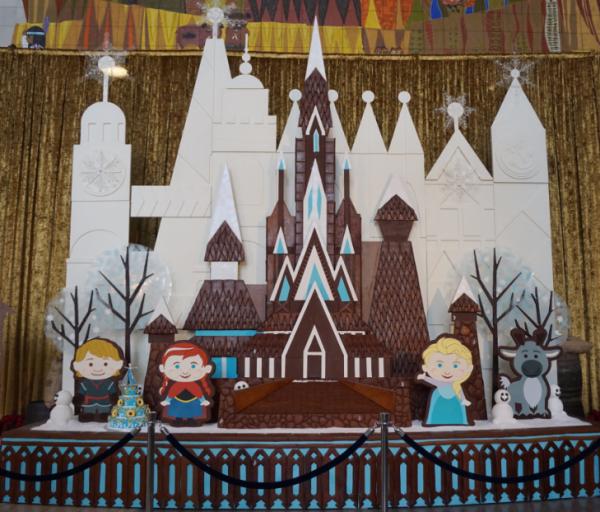 Disney world-contemporary resort-Frozen gingerbread castle