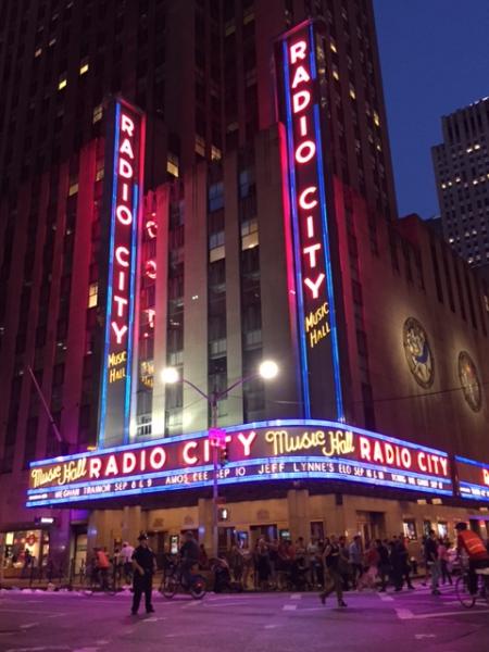 New york city-radio city music hall at night