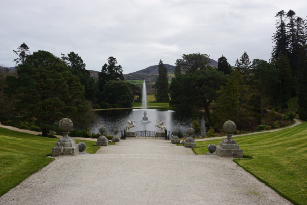 Ireland-powerscourt estate-gardens-view of lake from terrace