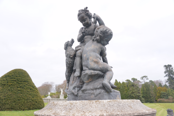 Ireland-powerscourt gardens-statue in italian garden