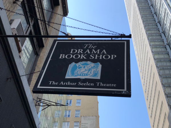 New york city-the drama book shop sign