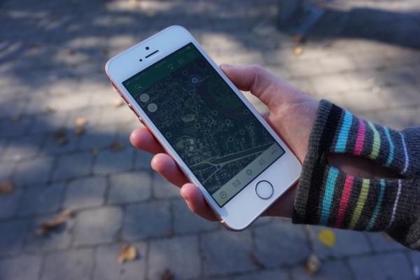 Brantford-using geocaching app