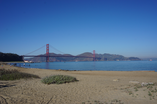California-san francisco-golden gate bridge-view from crissy field
