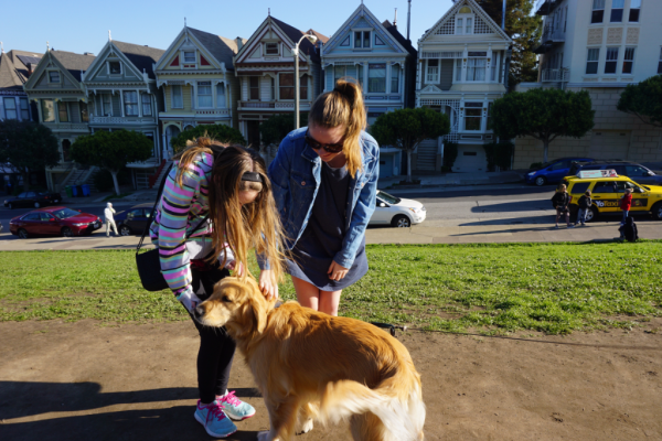 California-san francisco-painted ladies-meeting a local movie star