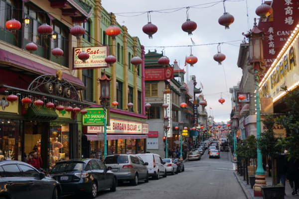 California-san francisco-walking in chinatown