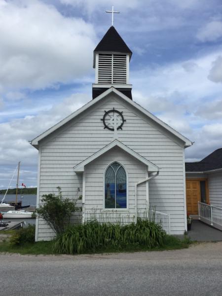 Manitoulin island-kagawon-sailor's church-exterior