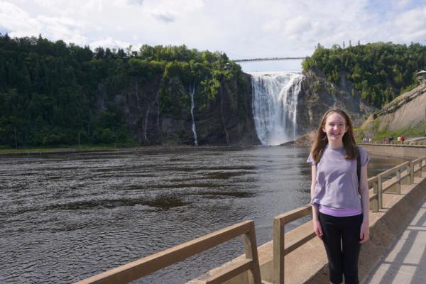 Canada-quebec-montmorency falls park walking trail
