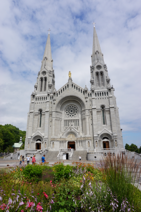 Quebec-outside the basilica of sainte-anne-de-beaupre
