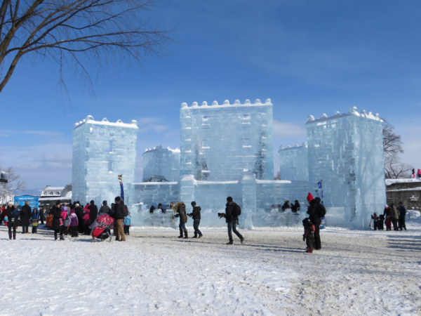 Quebec-winter carnival-bonhomme ice palace