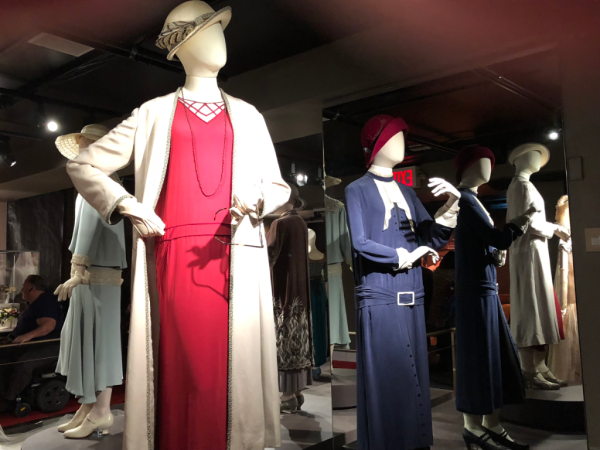 New york city-downton abbey exhibition-display of costumes from series