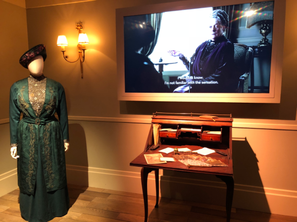 New york city-downton abbey exhibition-the dowager countess costume and writing desk