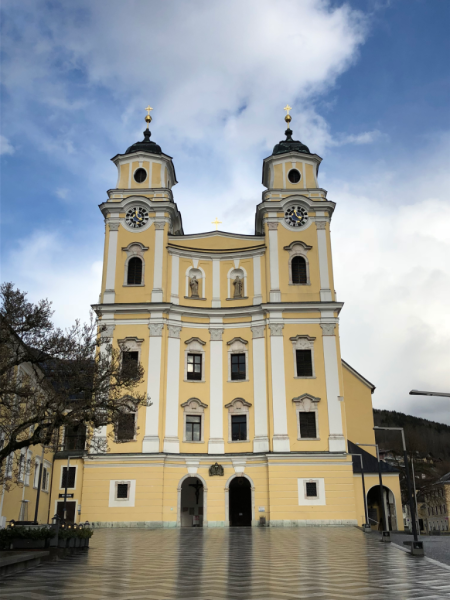 Austria-salzburg-sound of music tour-mondsee cathedral