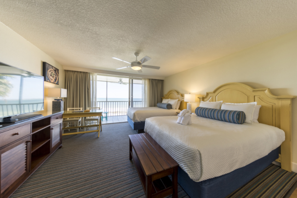 Florida-Fort Myers-Pink Shell Beach Resort-Two Queen Room in Sanibel View Building