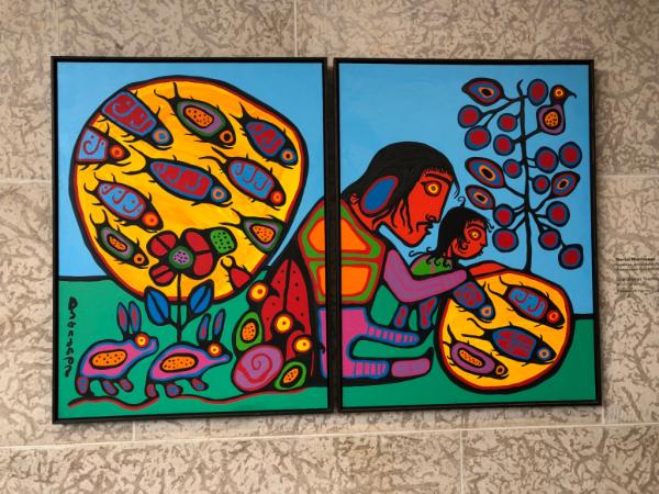 Manitoba-winnipeg art gallery-norval morrisseau painting