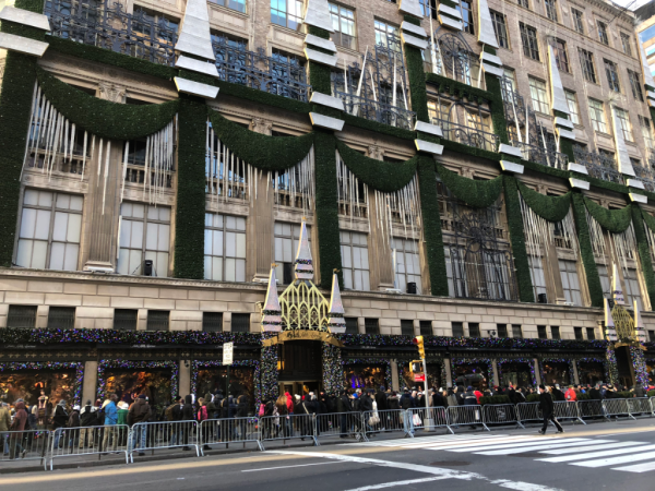 New york city-holiday window displays on 5th avenue