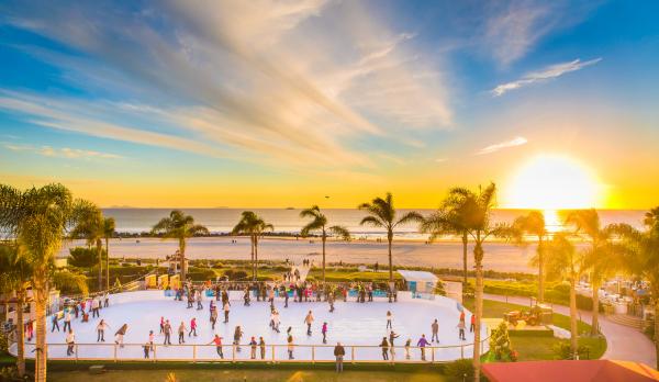 Seaside skating at the Hotel Del Coronado