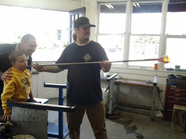 Newport Rhode Island-Thames Glass-Glass blowing