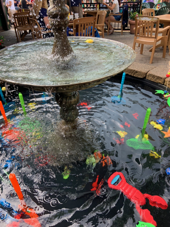 Newport-Rhode Island-Fish fountain at O'Brien's Pub