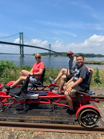 Family on Rail Explorers Tour-Newport Rhode Island