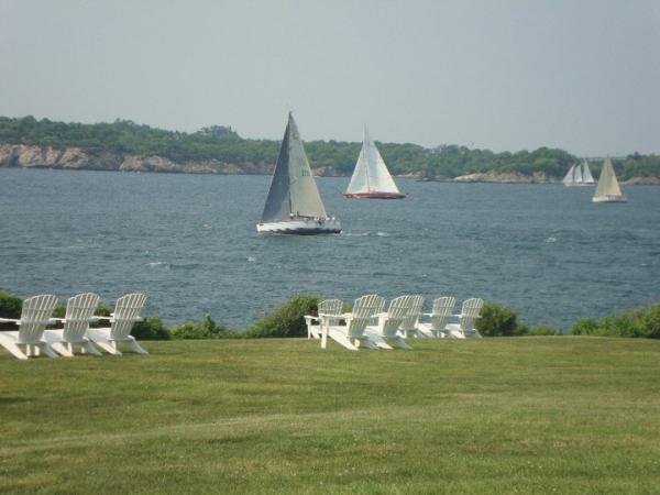 Newport RI-Watching sailboats at Castle Hill