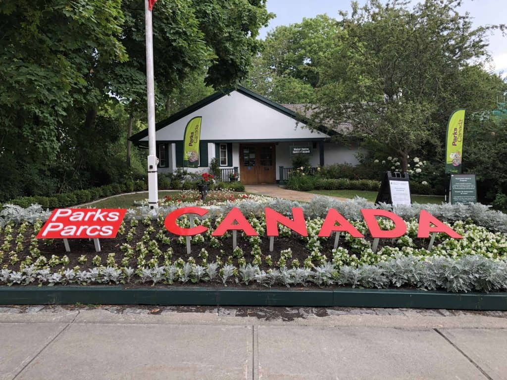 parks canada sign outside bellevue house in Kingston, ontario