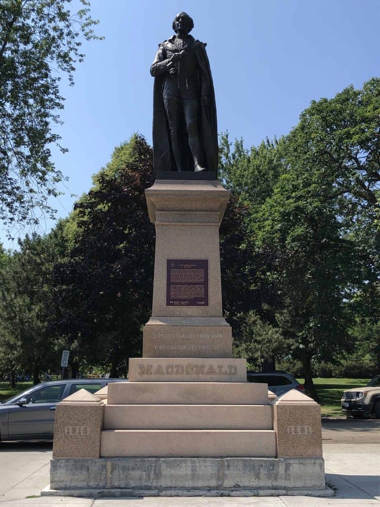 statue of sir john a macdonald in park