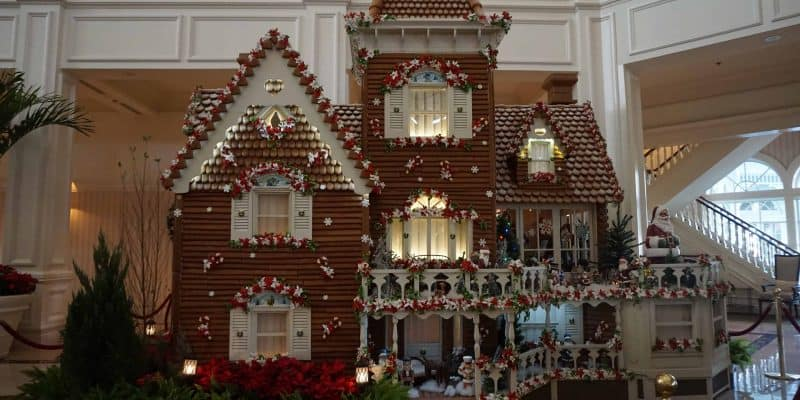 gingerbread house on display lobby of Grand Floridian Resort Disney World