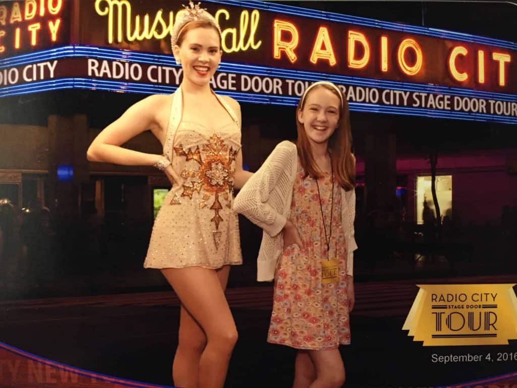 teen girl with radio city rockette