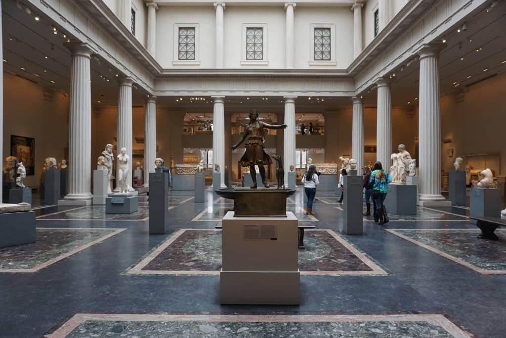 room of sculptures at the metropolitan museum