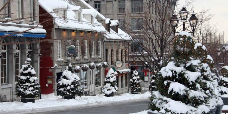 old montreal christmas snow