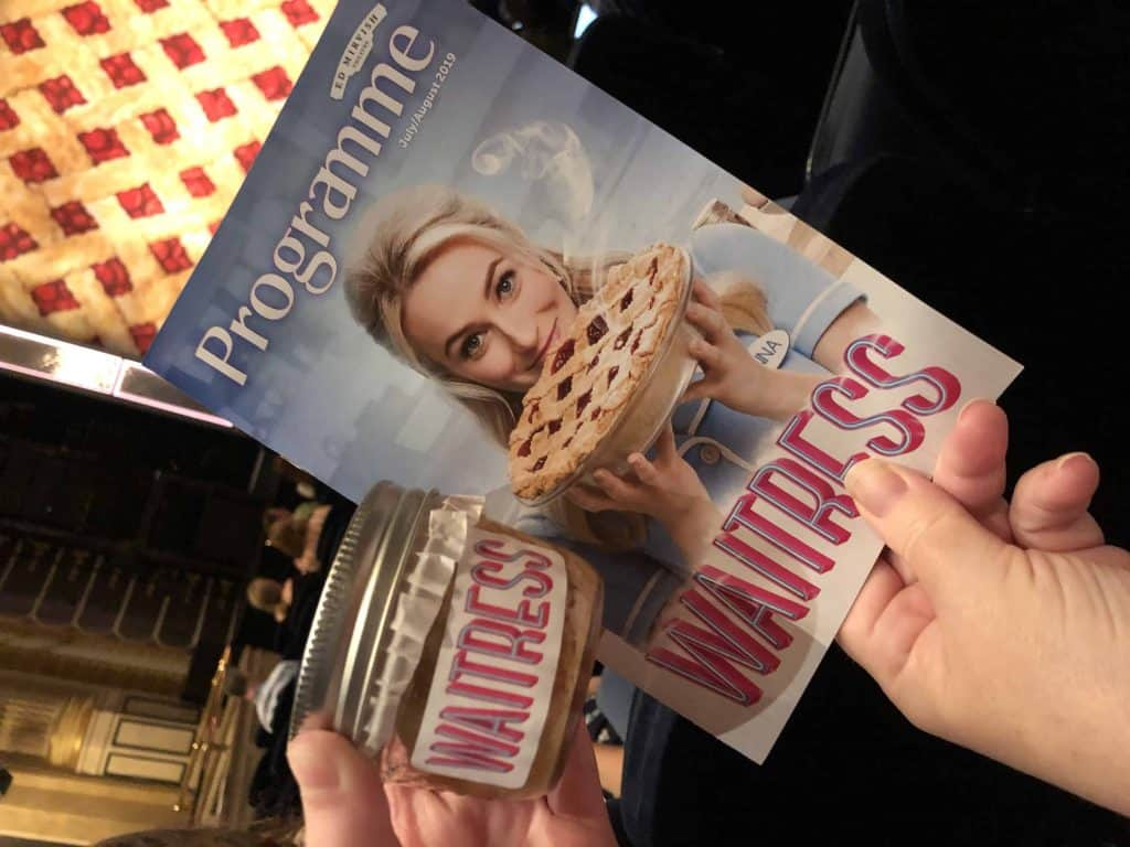 waitress musical programme and pie
