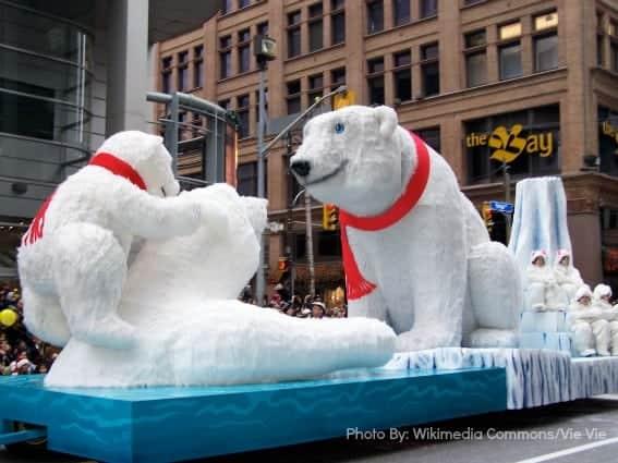 polar bear float-Toronto Santa Claus Parade