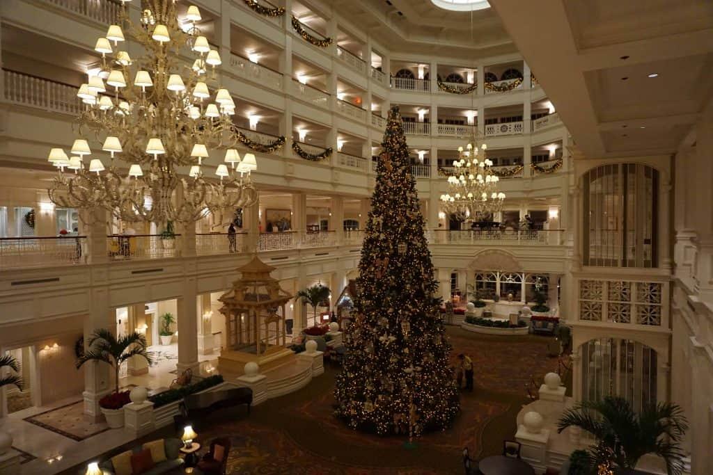 christmas tree-hotel lobby-grand floridian-disney world