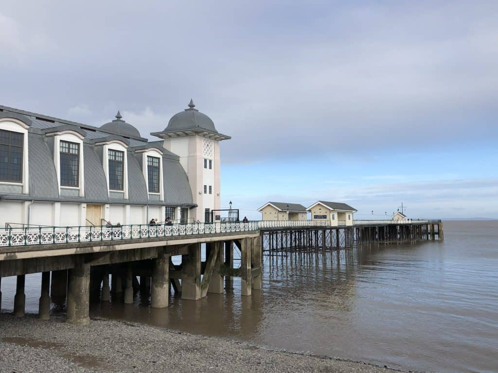 pier and pavilion on waterfront