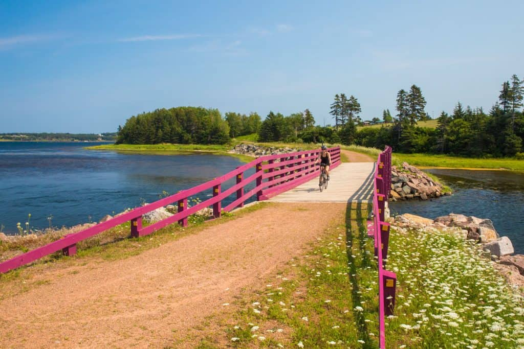 bicycle on confederation trail-prince edward island