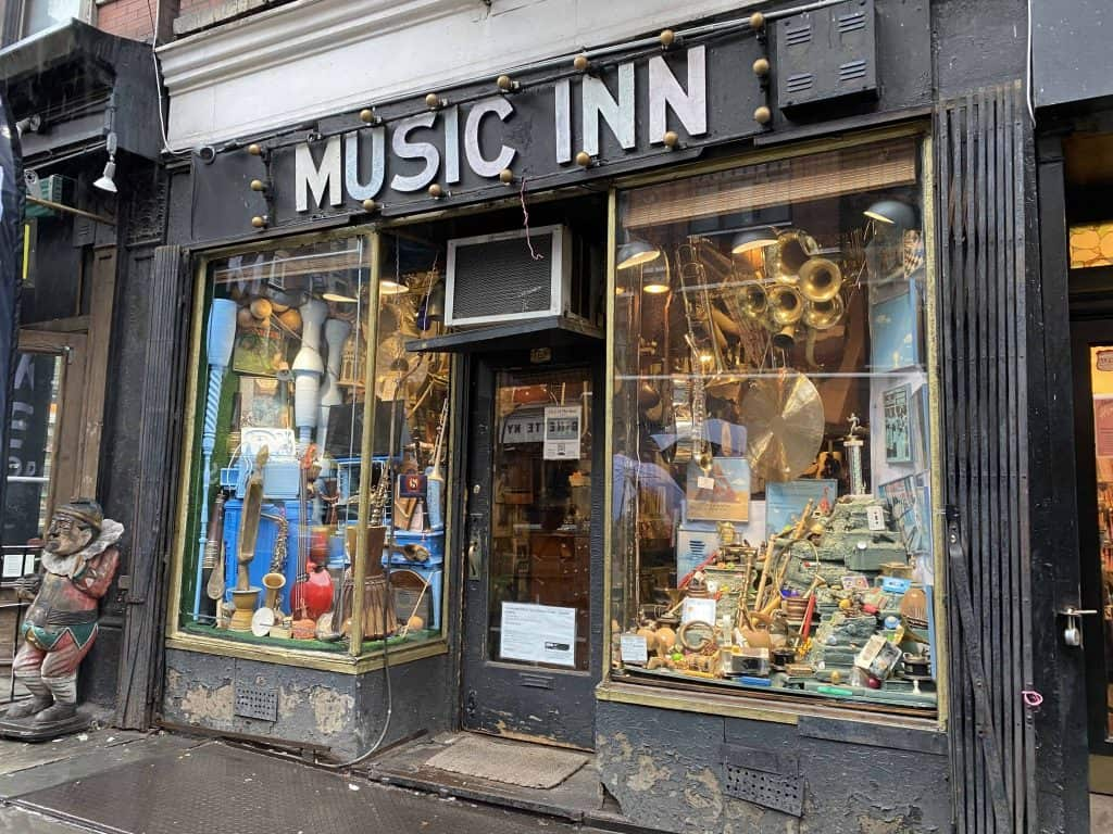 exterior of Music Inn shop